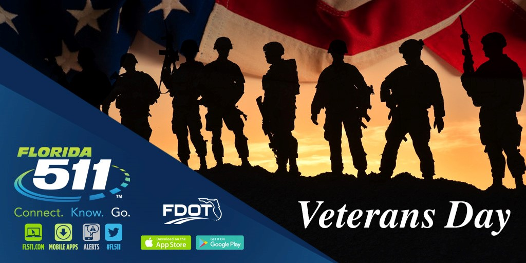 Connect.Know.Go this Veterans Day with FL511