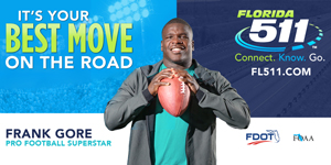 Pro Football Superstar Frank Gore lends his name to FL511