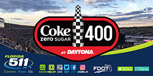 Travel Smart with the FL511 Mobile App to and from the Coke Zero Sugar 400