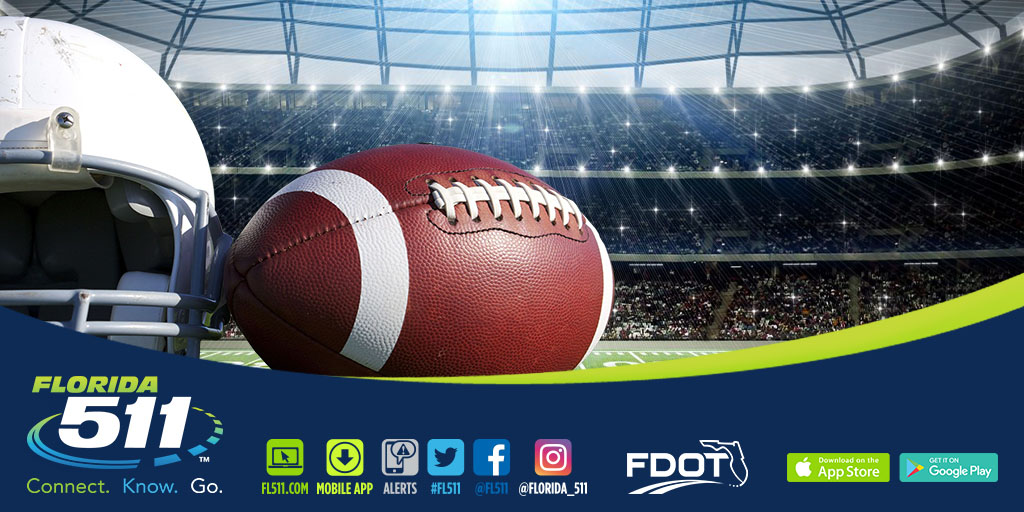 Travel Smart with the FL511 Mobile App to College Football Games