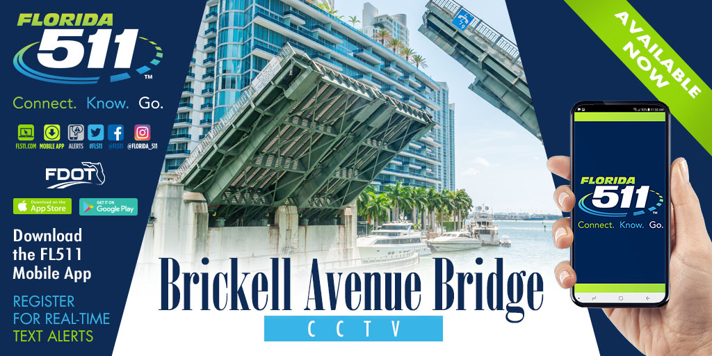 Brickell Avenue Bridge now captured on camera!