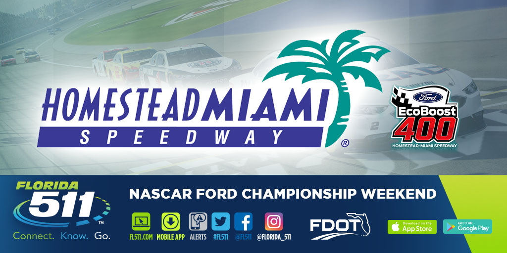 Use FL511 to travel to the Homestead Miami Speedway