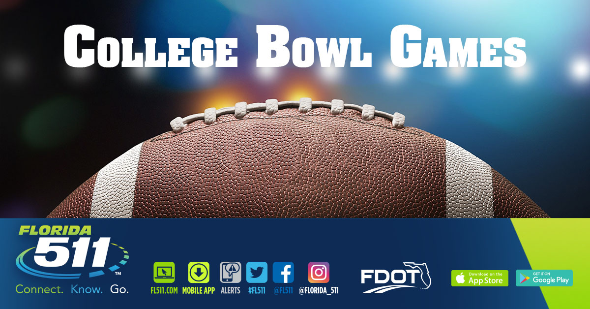 Use FL511 for travel to holiday destinations and college football bowl games.